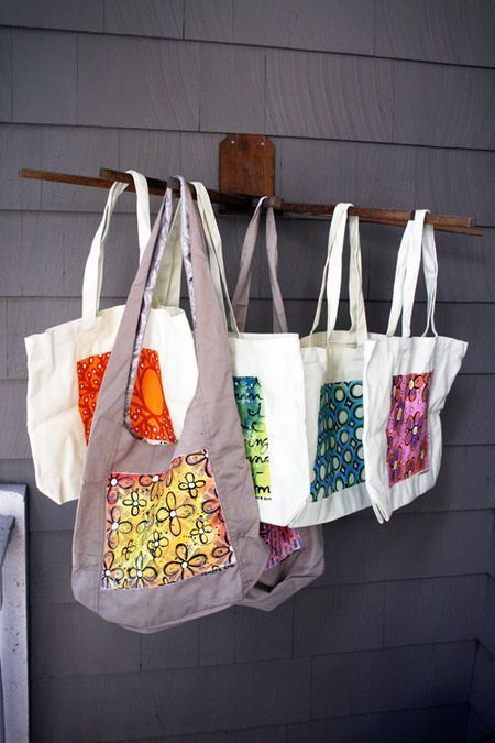 From The Archives Bag Paint Happy Painted Canvas Bags