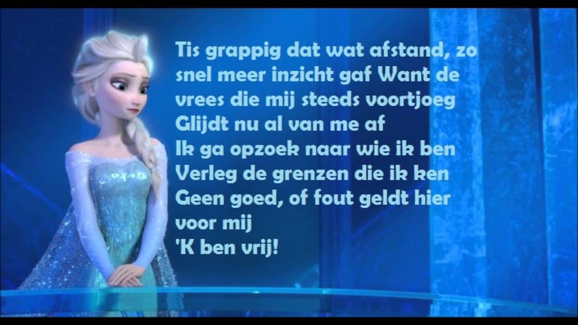 frozen let it go willemijn verkaik lyrics video (dutch/nederlands