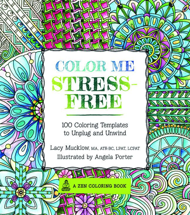Color Me Stress-Free Coloring Book Me time Pinterest Stress