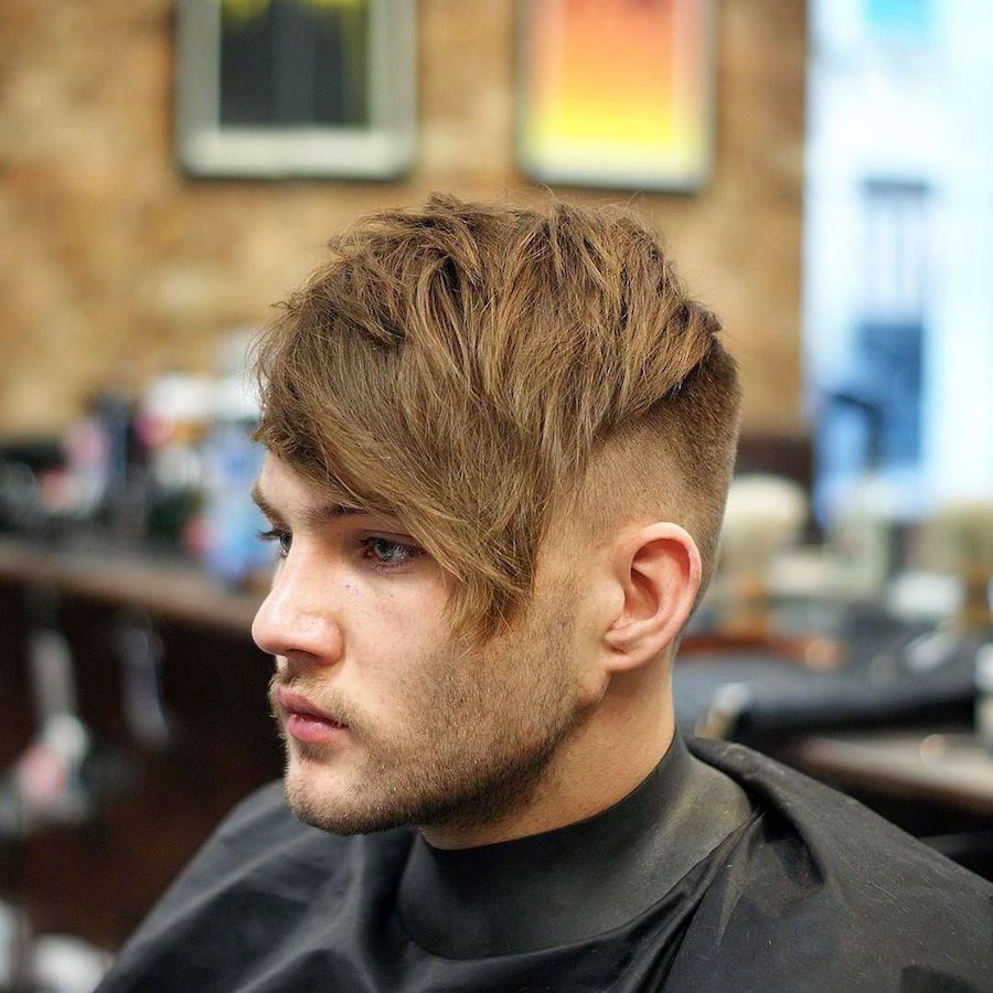 Long Textured Crop Side Fringe Long Hairstyles For Men 2017