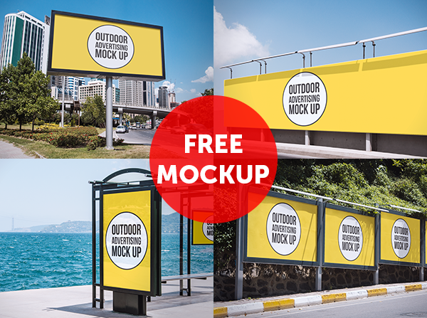 Outdoor Advertising Mockup Fribly Outdoor Advertising Mockup Outdoor Advertising Outdoor