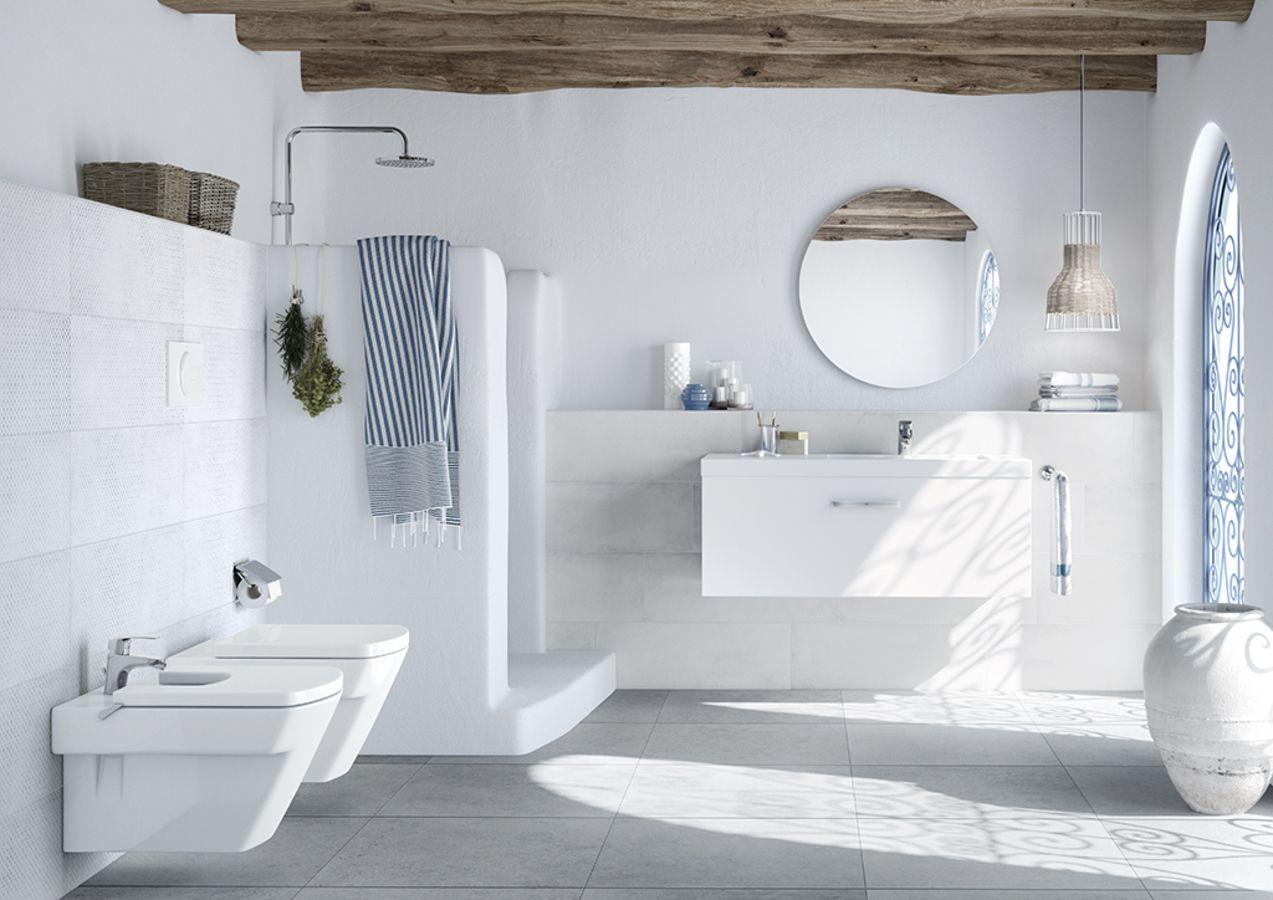 Roca Bahia 1 Salle De Bain Effet Effet Pierre Small Bathroom Decor Bathroom Decor House Bathroom
