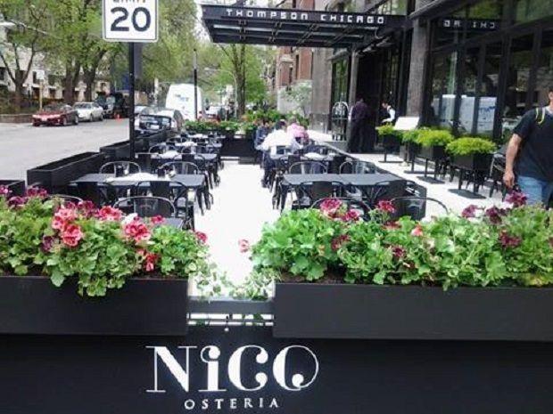 Nico, Osteria, Patio, Shot, Thompson, Chicago, Hotel