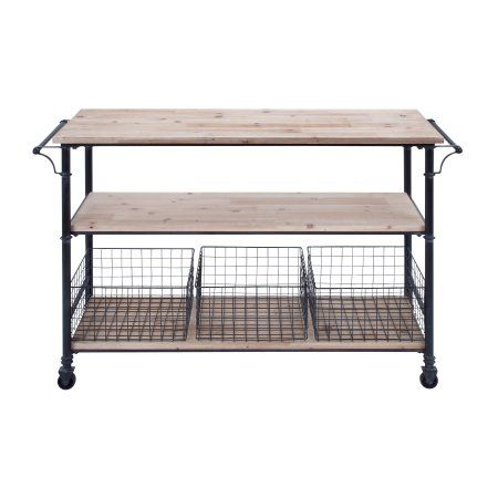 Utility Shelves Walmart Impressive Utility Cart Wheels Metal Framework 60 Wood Shelves 60 Baskets Decor