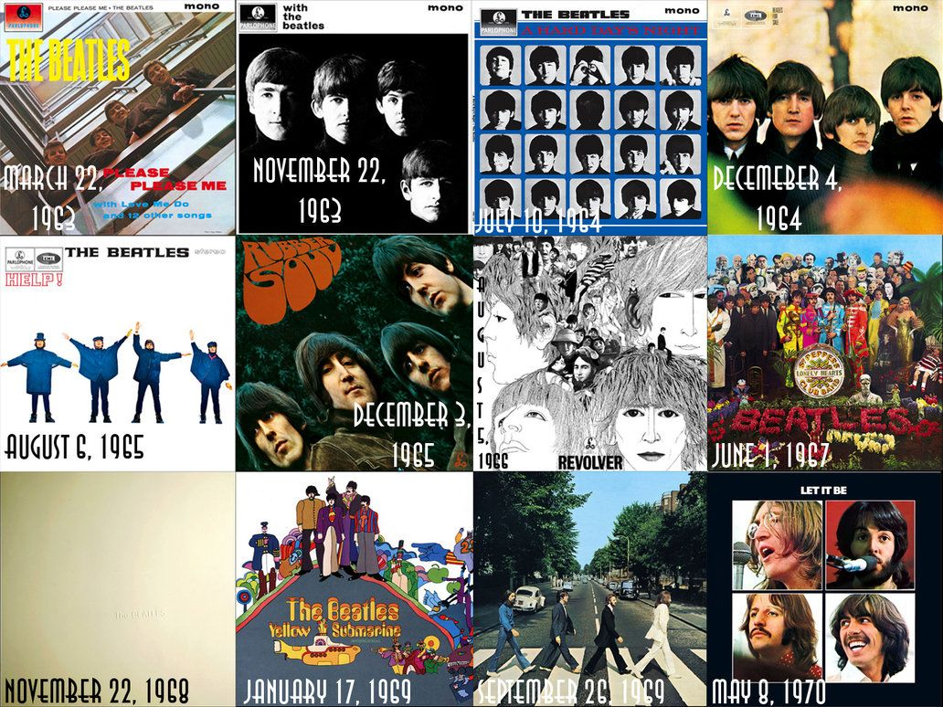 The Beatles Albums The Beatles Albums By Jedikaputski On Deviantart Beatles Albums The Beatles Beatles Album Covers