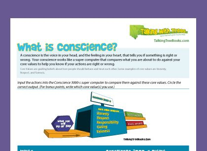 What is conscience free printable character education worksheet ...