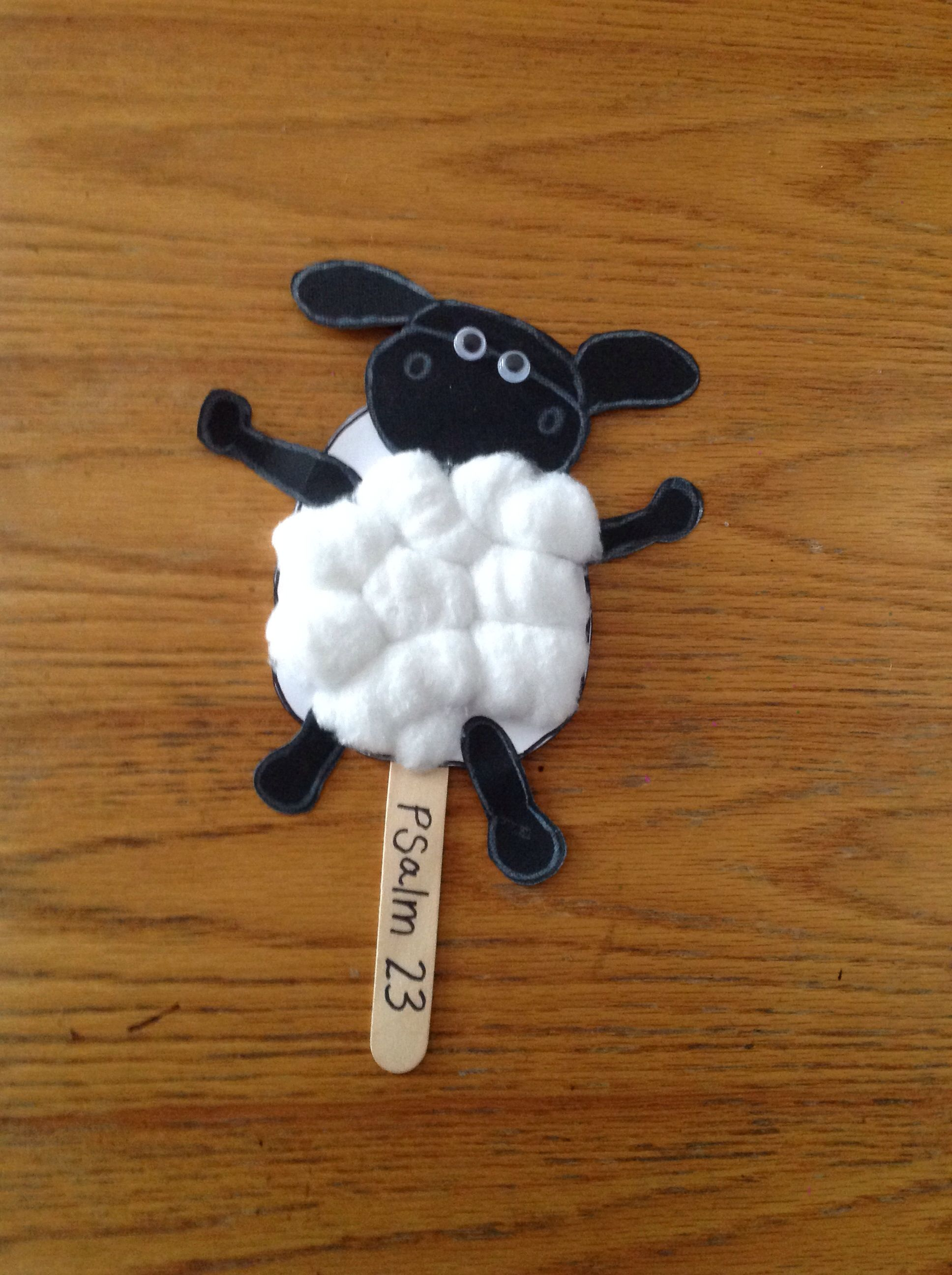 White Card Glue Cotton Woll Paddle Pop Stick Eyes Black Face And Legs Template