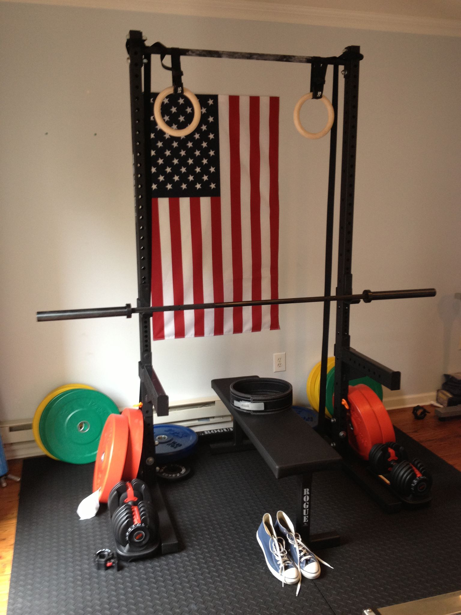 Rogue fitness garage gym courtesy of mark kloc s facebook