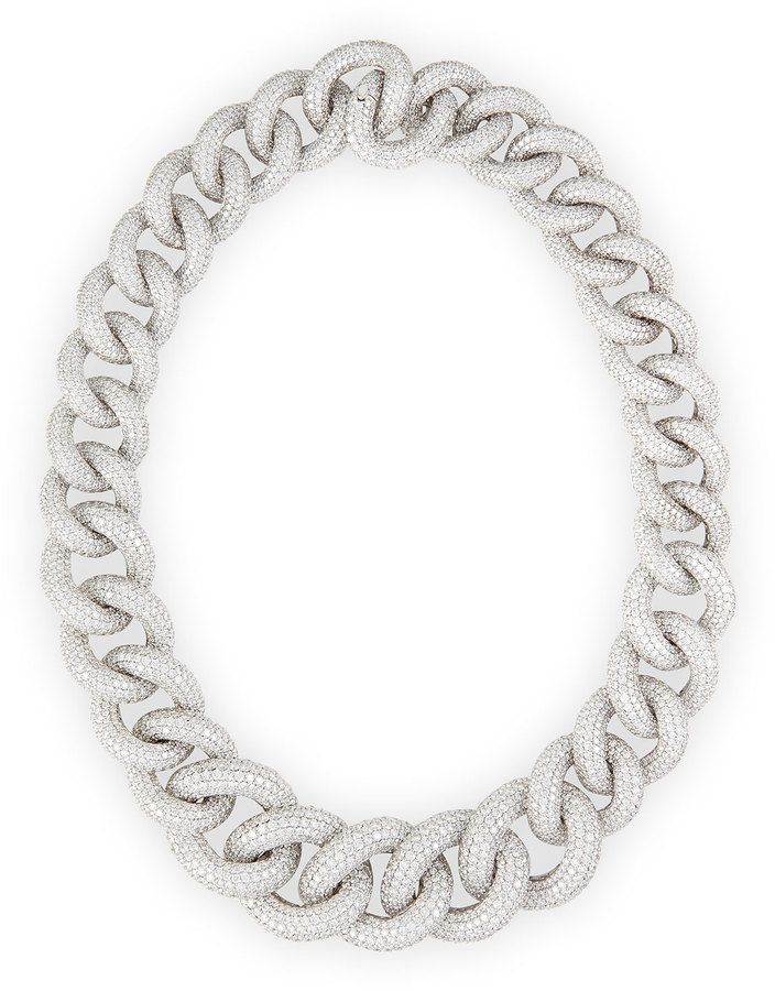 Leo Pizzo 18k White Gold Diamond Chain Link Necklace https://api.shopstyle.com/action/apiVisitRetailer?id=494818561&pid=uid8721-33958689-52