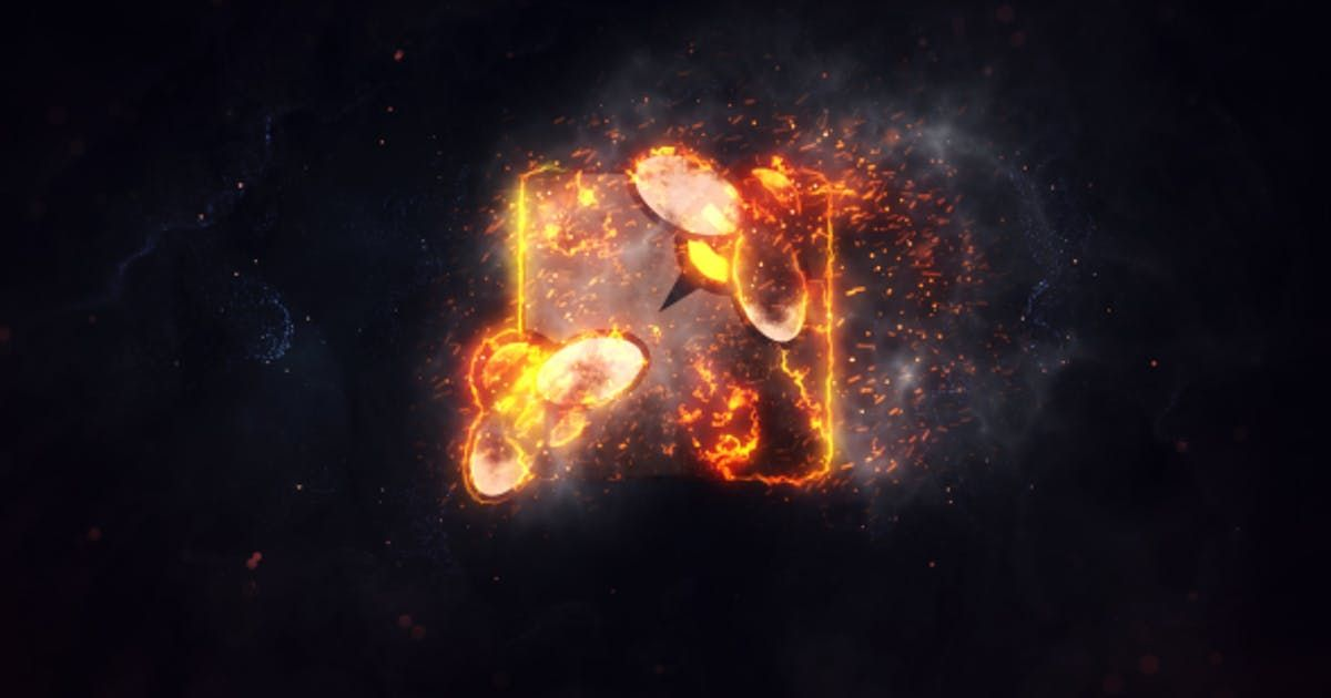 Burning Fire Logo By Voxyde On After Effects Intro