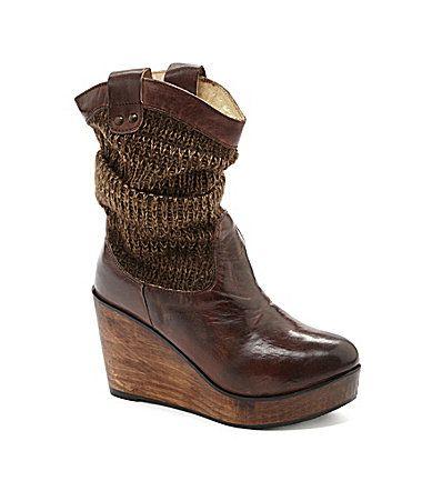 bed stu bruges wedge sweater boots dillards color