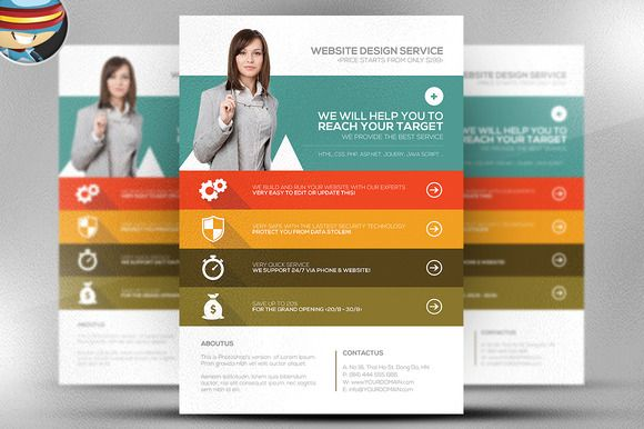Website Flyer Template. website designer flyer template design ...