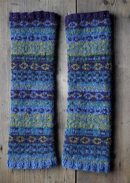 Ravelry: Fair Isle armwarmers pattern by Cello Knits | Knit Love ...