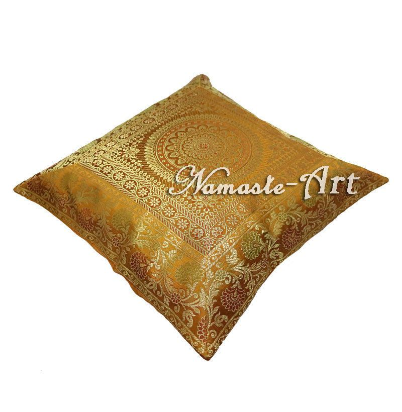 40'' Indian Silk Decorative Cushion Cover Brocade Art Ethnic Home Impressive Indian Silk Decorative Pillows