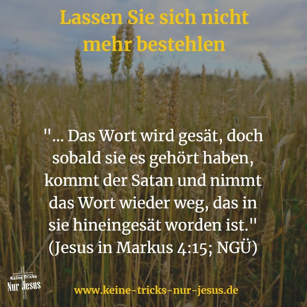 ❍ Am Glauben festhalten. Lassen Sie sich nicht stehlen, was Jesus Ihnen zusagt ➜ mehr dazu lesen: http://www.keine-tricks-nur-jesus.de/2018-01/am-glauben-festhalten-lassen-sie-sich-nicht-stehlen-was-jesus-ihnen-zusagt.html Vertrauen Sie voller Glauben demjenigen, der sich für Sie hat anspucken und abschlachten lassen, damit Sie frei von aller Angst und Zweifel die herrliche Gemeinschaft mit Ihrem himmlischen Vater genießen können. Vertrauen Sie nicht dem Teufel und dessen verwirrenden…
