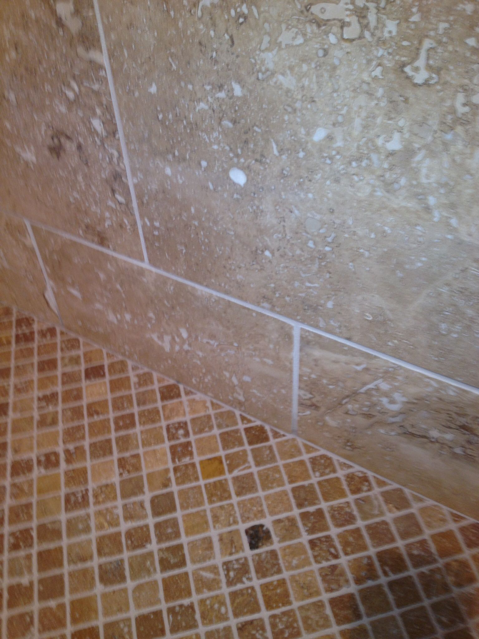 1x1 daltile be11 tumbled light noche used on shower floor in 1x1 daltile be11 tumbled light noche used on shower floor in conjunction with 12x12 be14 mendocino dailygadgetfo Image collections