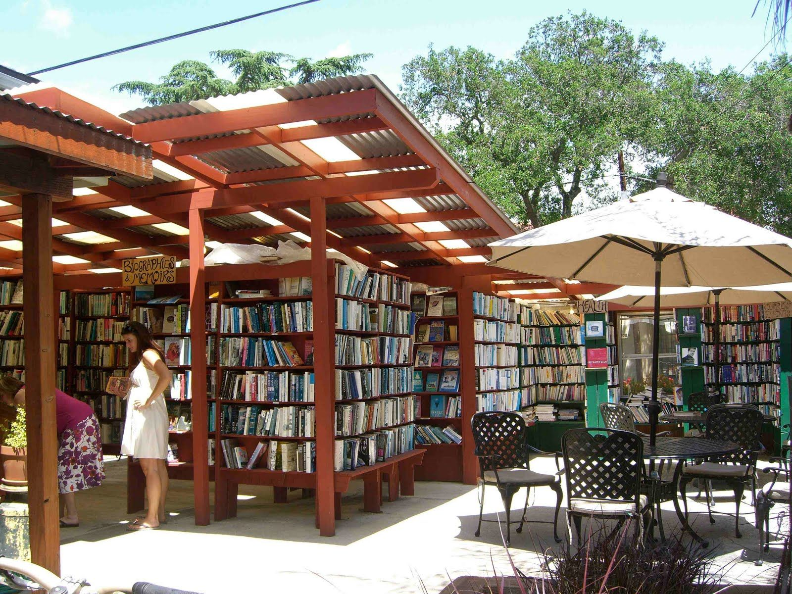 Bart's Books in Ojai...on the list of 20 best outdoor libraries and bookstores from around the world