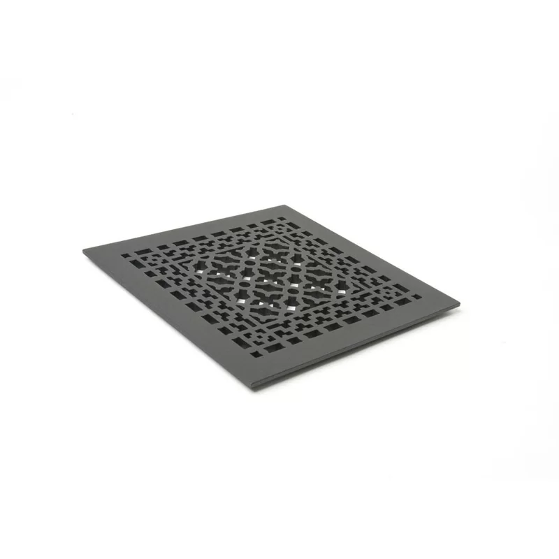 Scroll Series Aluminum Grille with Mounting Holes Floor