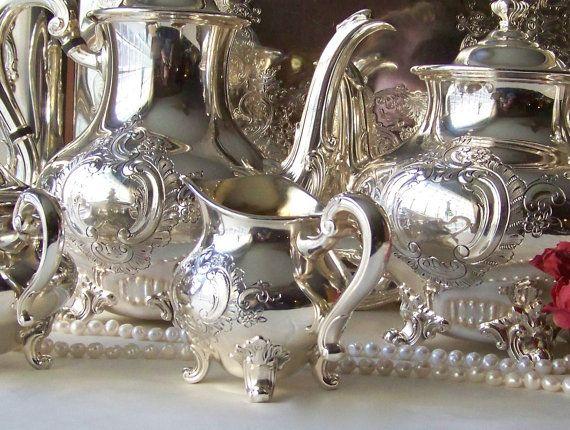 Vintage Reed & Barton Regent 5600 Tea and Coffee Service Silver ...