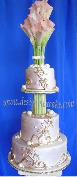 Calla Lilly Wedding Cake By Design Me A Http Www