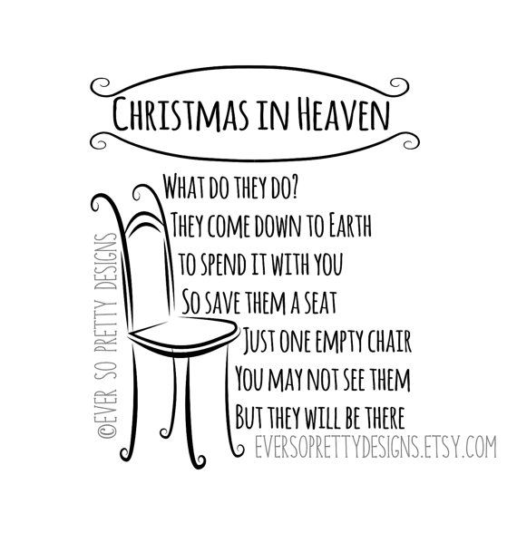Christmas In Heaven Poem Svg.Svg File Christmas Svg Christmas In Heaven Poem