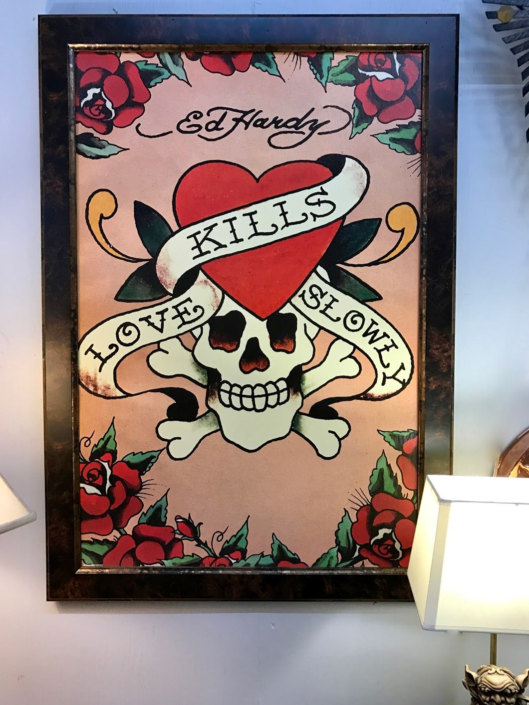 Ed Hardy Framed Print Dealer #0116 Lucas Street Antiques Mall 2023 Lucas  Dr. Dallas. Framed PrintsVintage Home DecorDallasStreetAntiques