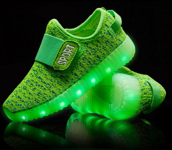 ff2dea95c37da Kids Luminous Shoes With Velcro Yeezy