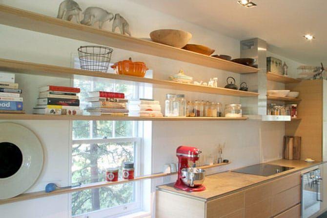 Картинки по запросу подвесные полки для кухни | Кухня с ...