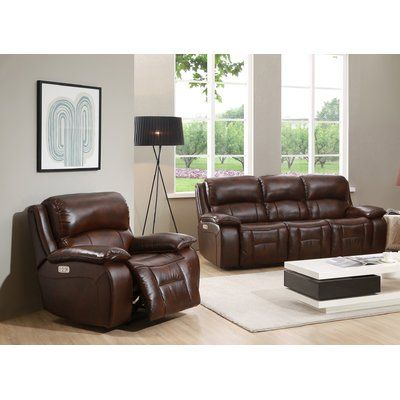 Best Hydelinebyamax Westminster Ii Leather 2 Piece Living Room 400 x 300