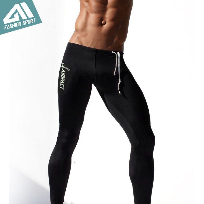 Men Fashion Workout Leggings Fitness Sports Gym Running Yoga Athletic Long John