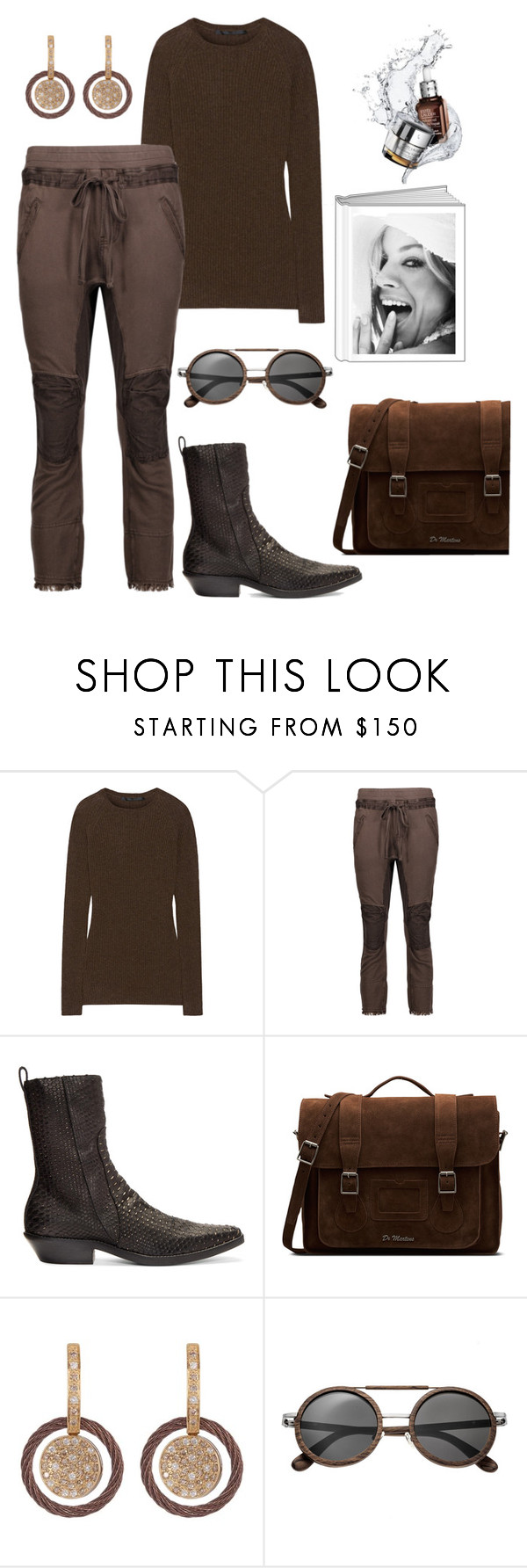 """Sienna."" by schenonek ❤ liked on Polyvore featuring Haider Ackermann, Dr. Martens, Alor and Earth"