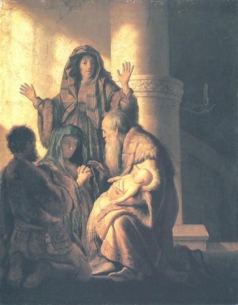 Presentation in the Temple - Rembrandt, 1628