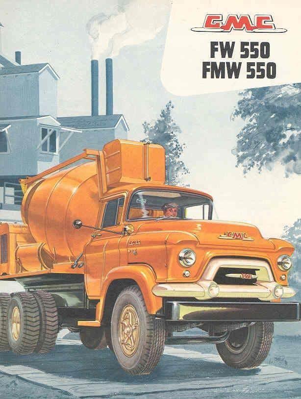 1956 GMC FW550 FMW550 COE Mixer Truck Sales Brochure wx7840-72226F
