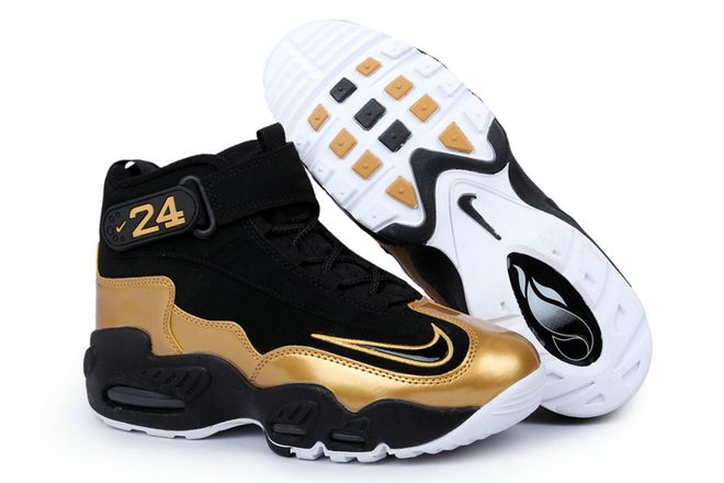 0725a3f91b49ff Nike Ken Griffey Max 1 (Mens) Basketball Shoes - Black Gold