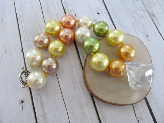 Beaded chunky girls necklace photo prop por PaigeandPenelope, $20.00