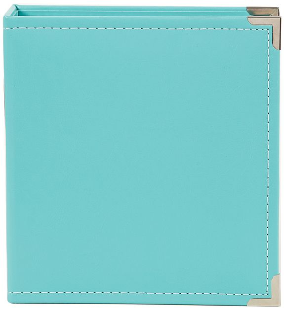 Simple Stories - SNAP Studio Collection - 6 x 8 Faux Leather Album - Teal at Scrapbook.com
