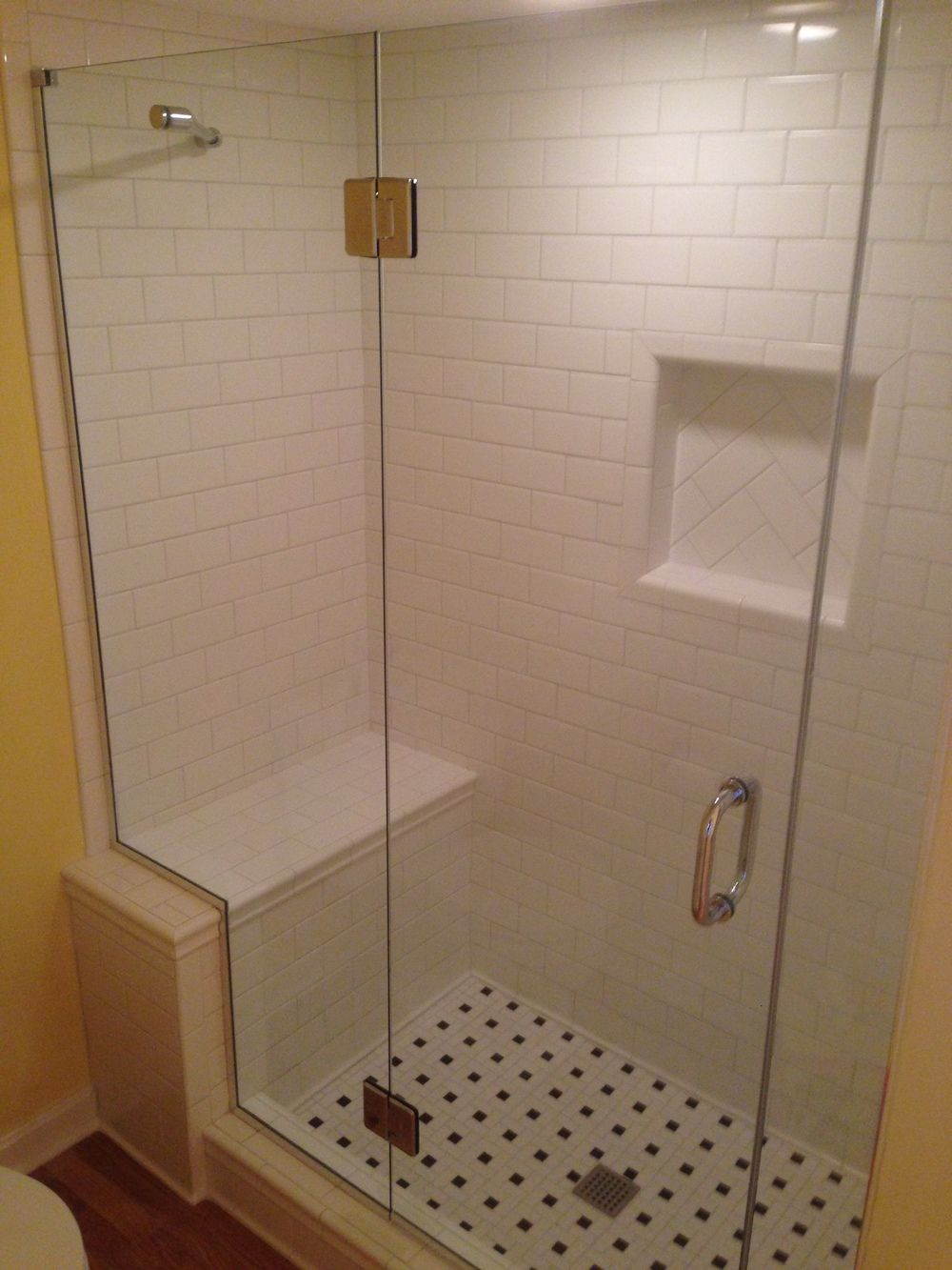 Walk In Tubs And Showers Custom Tiled Shower Converted From Regular 30 X 60 Tub
