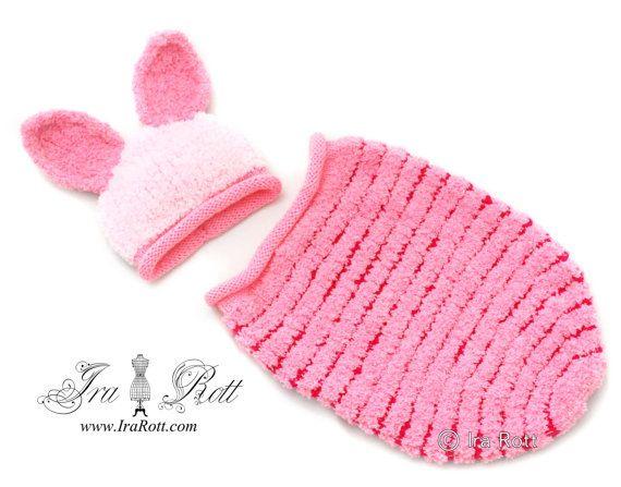 Piggy Sue Hut und Cocoon Set für Neugeborene bereit, Schiff ...