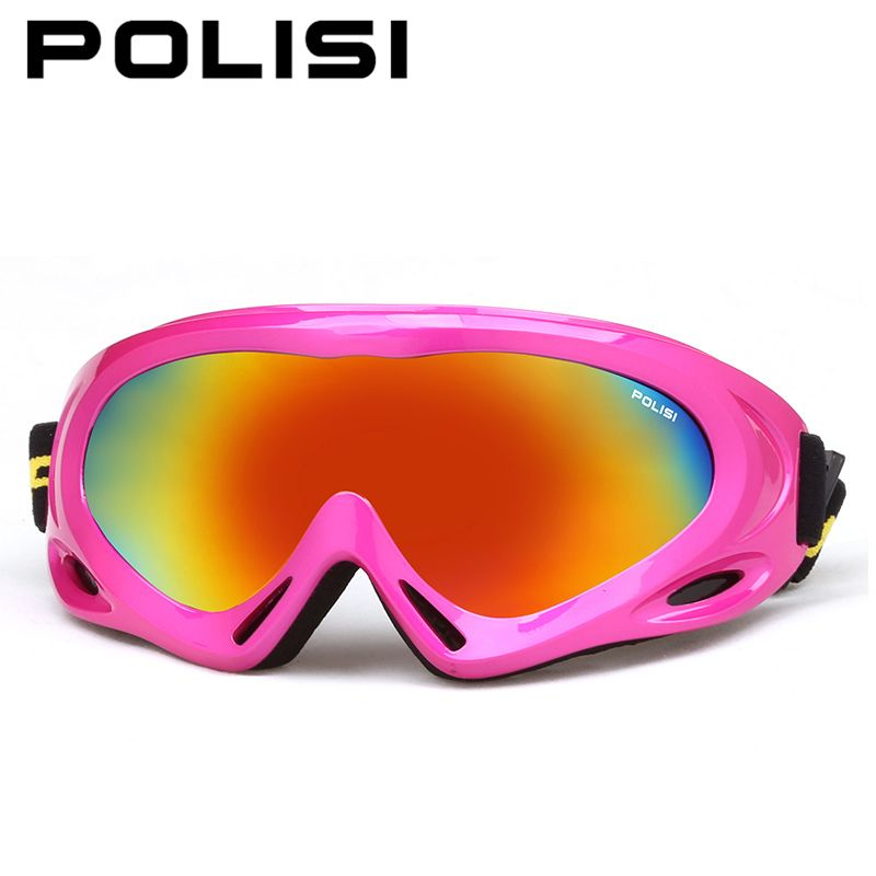 POLISI Winter Snow Ski Goggles Children Kids UV400 Snowboard Esqui Sports Glasses Boys Girls Anti-fog Skateboard Skiing Eyewear