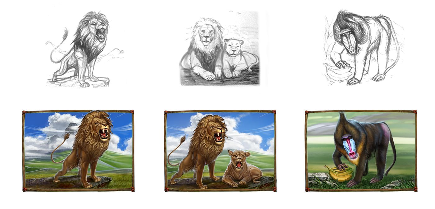 Graphic design of symbols for the game slot machine lion king graphic design of symbols for the game slot machine lion king http biocorpaavc Gallery