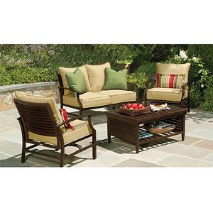 Shutter 4 Piece Patio Conversation Set Seats 4 Not Sure