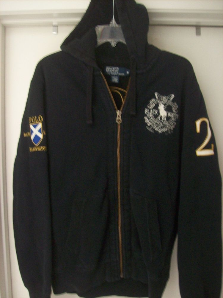 Ralph Lauren Polo Black Watch Competition Polo Team Zippered Hoodie Jacket  (Med) c1ecef9450d7