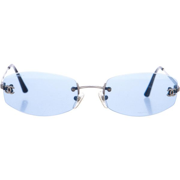 a015134f Pre-owned Chanel Rimless CC Sunglasses ($145) ❤ liked on Polyvore ...
