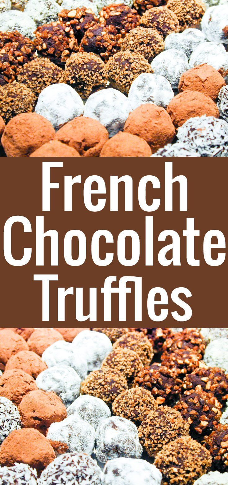 Amazingly rich and smooth French chocolate truffles! The easiest chocolate confection you can possibly make, yet they make a super special, super chic gift.