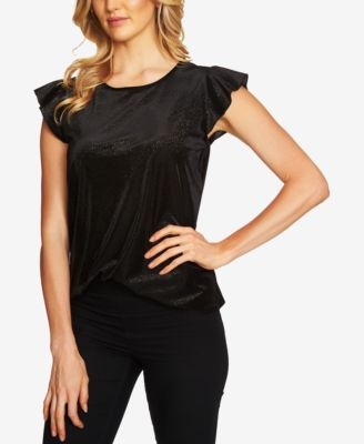 12c82d5f3f5d CeCe Metallic Flutter-Sleeve Top | macys.com | Macy's clothes ...