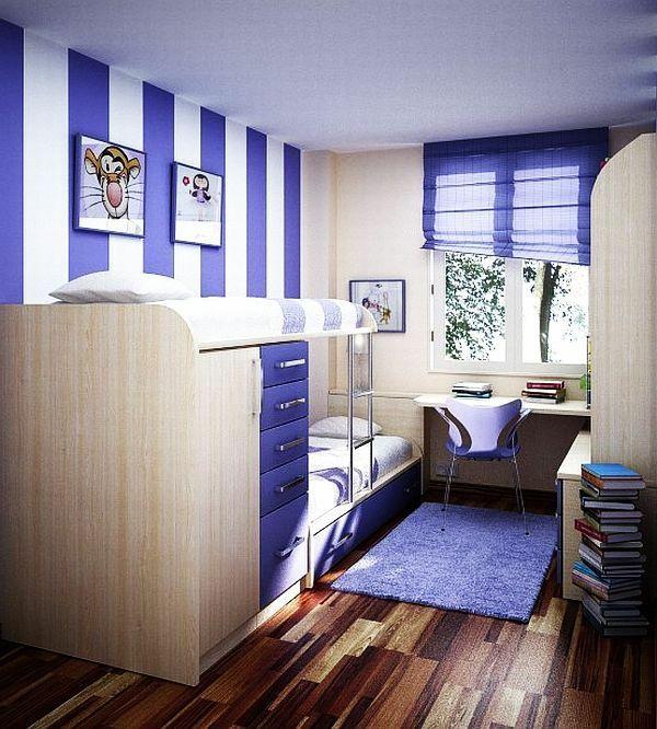 jugendzimmer design ideen gestreift in lila und weiß teppich - schlafzimmer lila wei