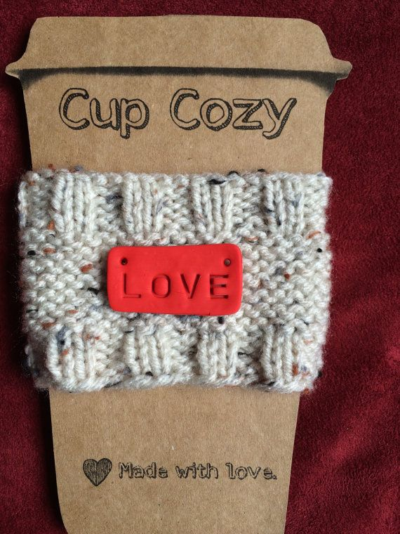 Handcrafted Knit Cup Cozy Sweater Sleeve To Go by ...
