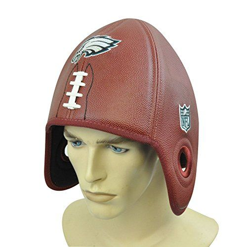 NFL Philadelphia Eagles Reebok Faux Leather Football Shaped Helmet Head Hat  Cap Reebok http   7ab0b9956f34
