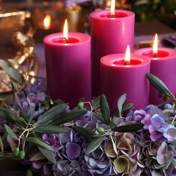 Adventskranz aus Hortensien - Anleitung