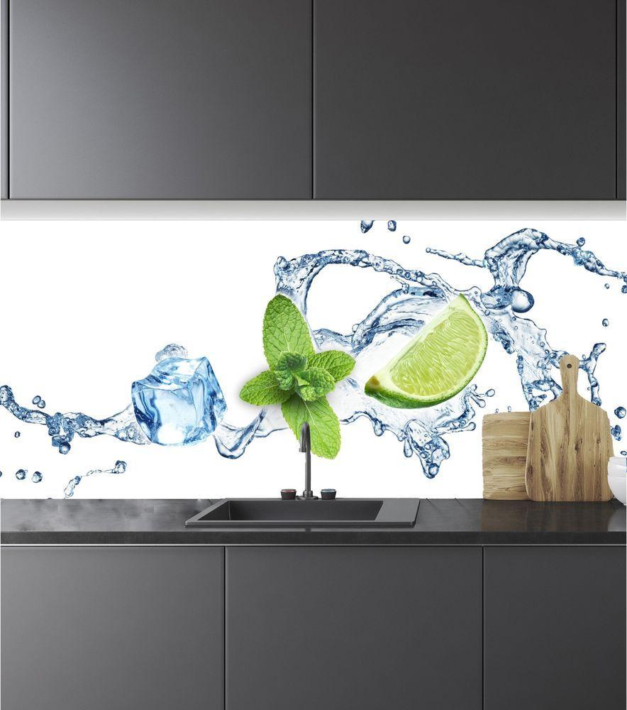Spritzschutz Herd Küchenrückwand Fliesenspiegel Acrylglas ...